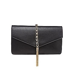 LYDC - Black large tasselled clutch