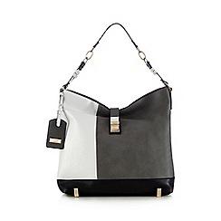 LYDC - Black colour block shoulder bag