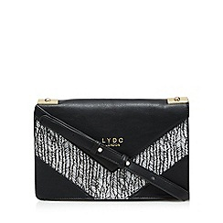 LYDC - Black 'Vinaroz' printed cross body bag