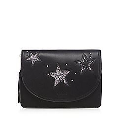 LYDC - Black glitter star clutch bag