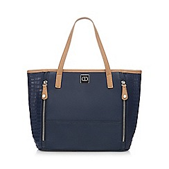The Collection - Navy croc-effect grab bag