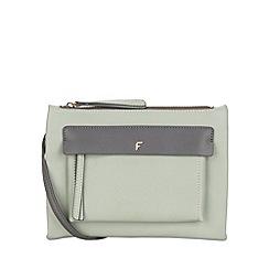 Fiorelli - Mint mix Alexa Contemporary flat cross body bag