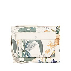 Fiorelli - White botanical print Alexa Contemporary flat cross body bag