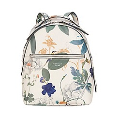 Fiorelli - White botanical print Anouk small backpack
