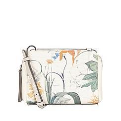 Fiorelli - White botanical print Sadie Contemporary cross body bag