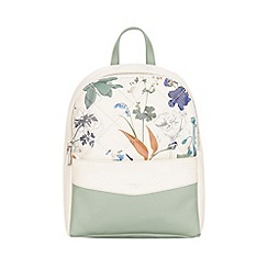 Fiorelli - White botanical print Trenton backpack