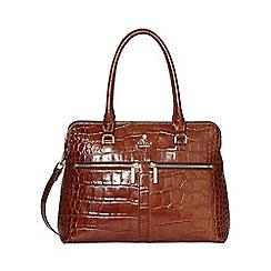 Modalu - Chocolate Croc-Effect Pippa Classic Grab Bag