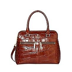 Modalu - Chocolate Croc-Effect Pippa Mini Grab Bag