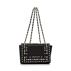 Versace Jeans - Black studded shoulder bag