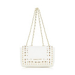 Versace Jeans - White woven shoulder bag