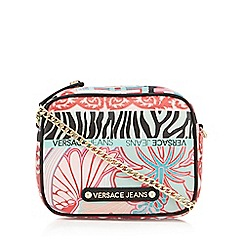 Versace Jeans - Pink printed cross body bag