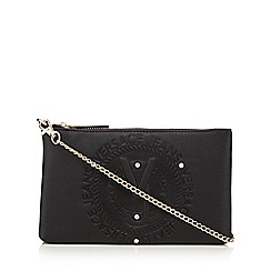 Versace Jeans - Black embossed logo cross-body bag