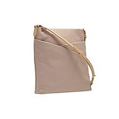 Clarks - Oat leather 'tottington duo' shoulder bag