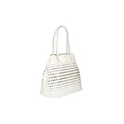 Clarks - White 'mixbury vine' shoulder bag