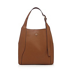 Nica - Tan structured hobo bag