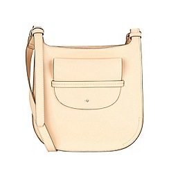 Nica - Light peach clara large cross body bag