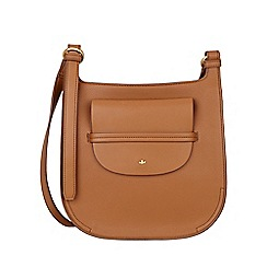 Nica - Tan clara large cross body bag