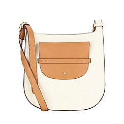 Nica - White clara large cross body bag