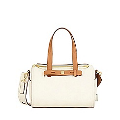 Nica - White berry bowler bag