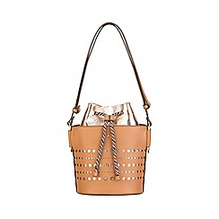 Nica - Tan blanche drawstring shoulder bag