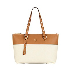 Nica - White nova zip top shoulder bag