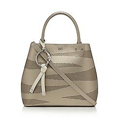 Cavalli Class - Metallic 'City Zebra' bucket bag