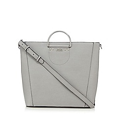 Faith - Grey grained shopper bag
