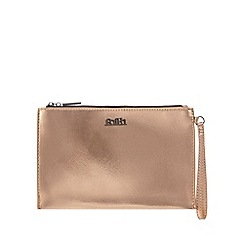 Faith - Bronze metallic wristlet