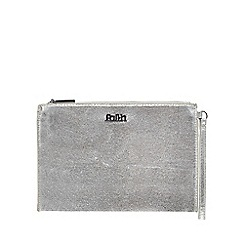 Faith - Silver metallic wristlet