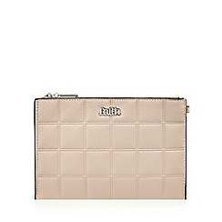 Faith - Natural quilted square clutch bag