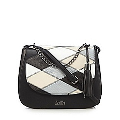 Faith - Black patchwork print grab bag