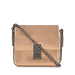 Faith - Bronze box cross body bag