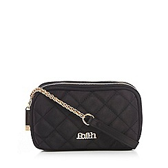 Faith - Black quilted cross body bag
