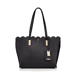Faith - Black 'Elsie' Scalloped edge grab bag