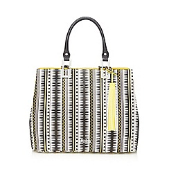 Faith - Yellow 'Eliza' aztec printed grab bag