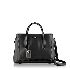 Radley - Medium black leather 'Boundaries' shoulder bag