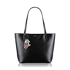 Radley - Large black leather 'De Beauvoir' tote bag