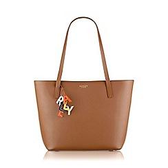 Radley - Large tan leather 'De Beauvoir' tote bag