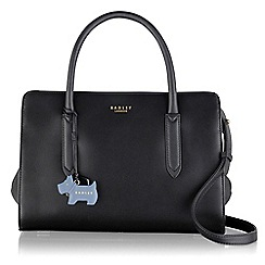 Radley - Medium black leather 'Liverpool Street' grab bag