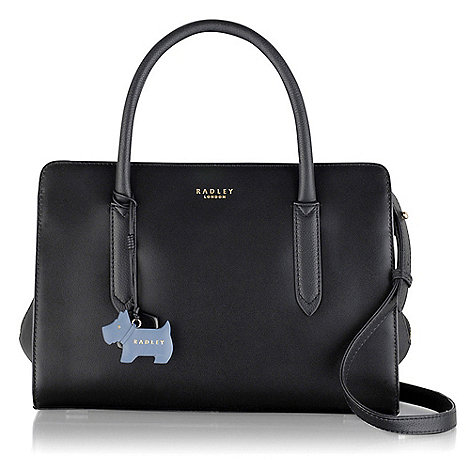 Radley Medium black leather 'Liverpool Street' grab bag | Debenhams