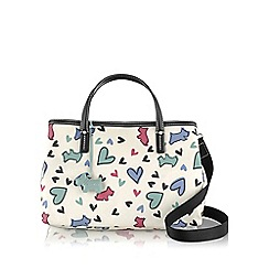 Radley - Medium ivory oilskin 'Love Me, Love My Dog' grab bag