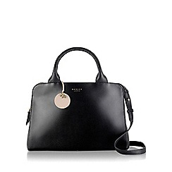 Radley - Medium black leather 'Millbank' zipped grab bag