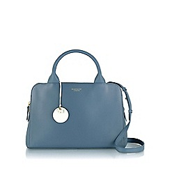 Radley - Medium blue leather 'Millbank' zipped grab bag