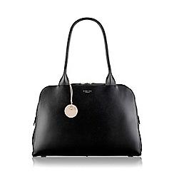 Radley - Large black leather 'Millbank' zip top tote bag