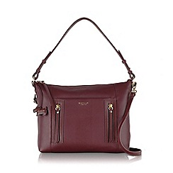 Radley - Medium burgundy leather 'Northcote Road' grab bag