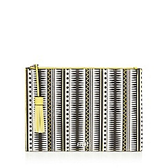 Faith - Yellow 'Emilia' aztec printed clutch bag