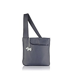 Radley - Small navy leather 'Pocket Bag' cross body
