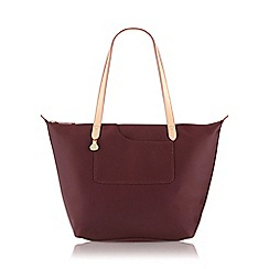 Radley - Large burgundy nylon 'Pocket Essentials' zipped tote bag