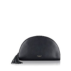 Radley - Medium black leather 'Half Moon' clutch