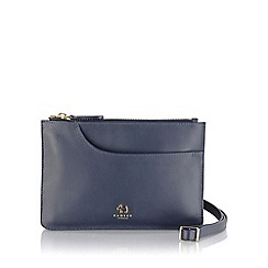 Radley - Small navy leather 'Pockets' cross body